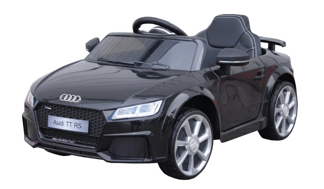 Mini Audi Tt Rs For Rechargeable Battery Black Licence Electric